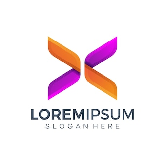 Diseño de logotipo colorido abstracto
