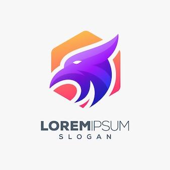 Diseño de logotipo colorido águila