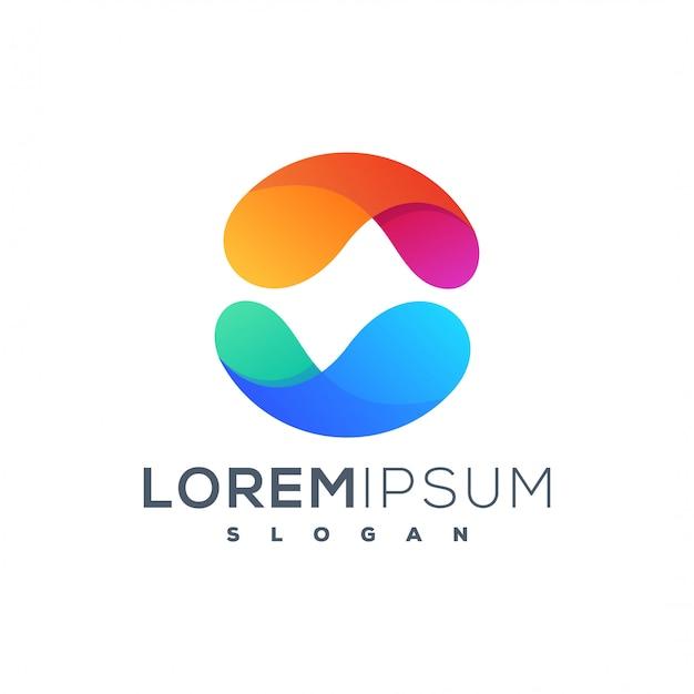 Diseño de logotipo colorido círculo abstracto