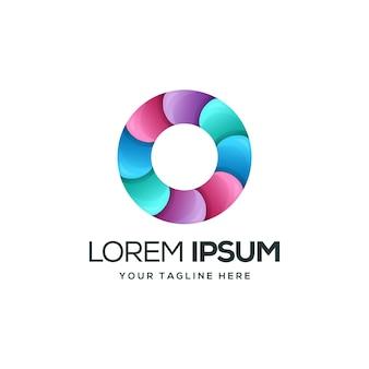 Diseño de logotipo colorido círculo moderno