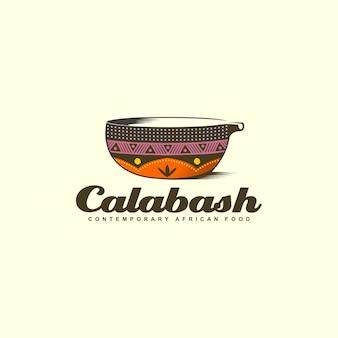 Diseño de logotipo colorido cuenco calabash