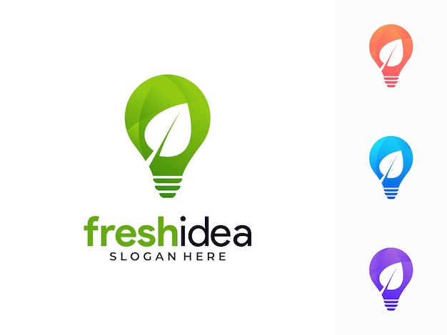 Diseño de logotipo colorido idea fresca