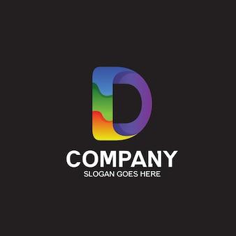 Diseño de logotipo colorido letra d