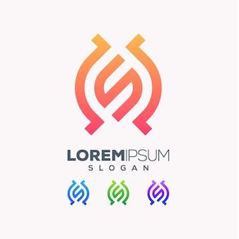 Diseño de logotipo colorido letra s