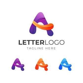 Diseño de logotipo colorido letra a