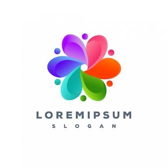 Diseño de logotipo colorido listo para usar