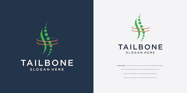Diseño de logotipo de columna vertebral