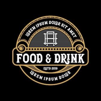 Diseño de logotipo de comida y bebida para producto y restaurante.