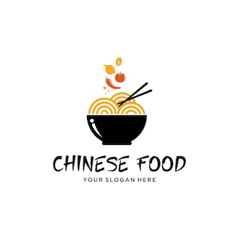 Diseño de logotipo de comida china