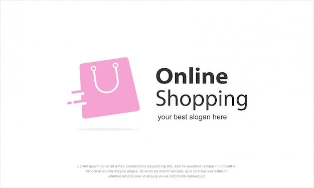 Diseño de logotipo de compras en línea