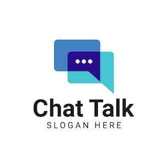 Diseño de logotipo de comunicación de chat