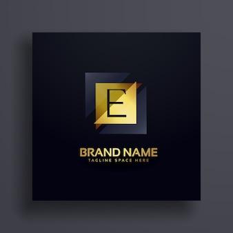 Diseño de logotipo de concepto de letra e superior