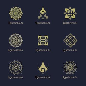 Diseño de logotipo de concepto de lujo.