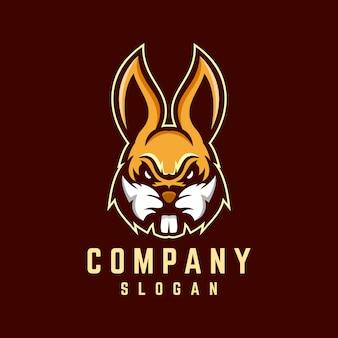 Diseño de logotipo de conejo