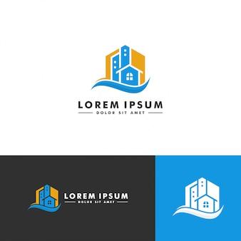 Diseño de logotipo de la construcción de viviendas