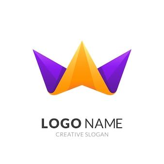 Diseño de logotipo de corona colorido, logotipos