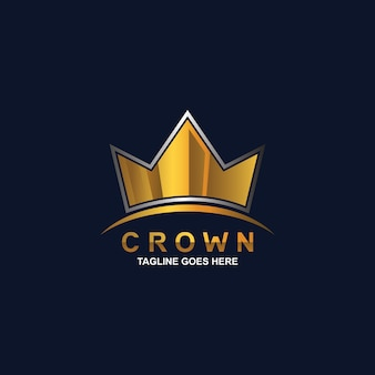 Diseño de logotipo de corona