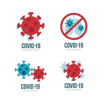 Diseño de logotipo de coronavirus