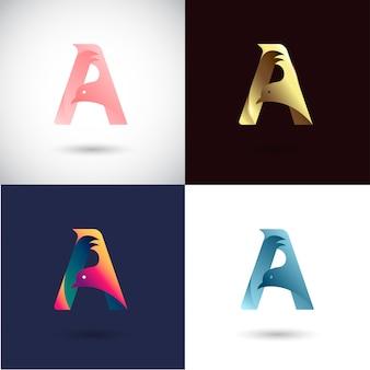 Diseño de logotipo de creative letter a