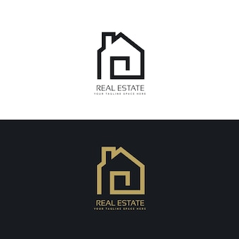 Diseño de logotipo creativo de bienes raíces