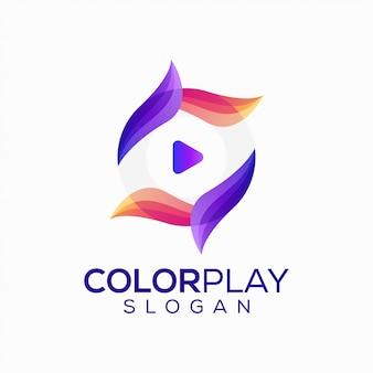 Diseño de logotipo creativo juego colorido