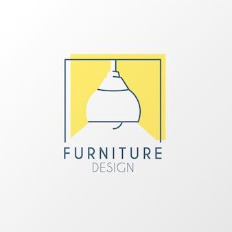 Diseño de logotipo creativo de muebles minimalistas.