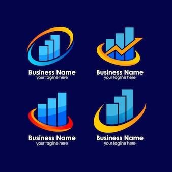 Diseño de logotipo de crecimiento empresarial hasta