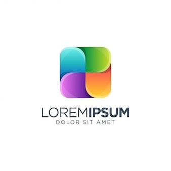 Diseño de logotipo cuadrado