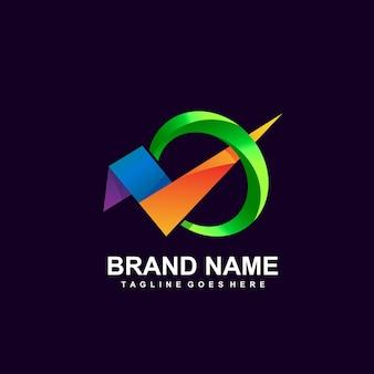 Diseño de logotipo a cuadros coloridos