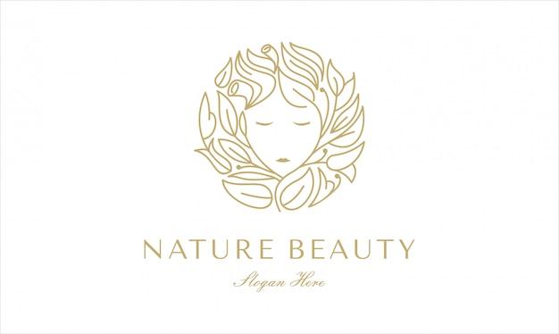 Diseño de logotipo de cuidado de belleza