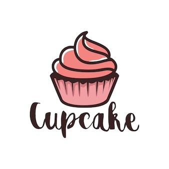 Diseño de logotipo de cupcake