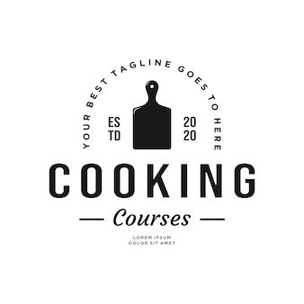 Diseño de logotipo de cursos de cocina vintage