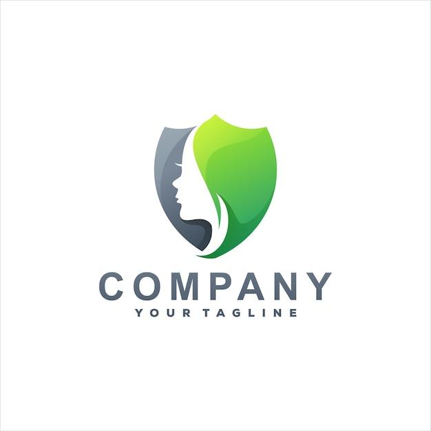 Diseño de logotipo degradado de color de belleza