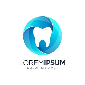 Diseño de logotipo degradado de color dental