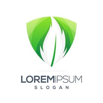 Diseño de logotipo degradado de inspiración colorida hoja