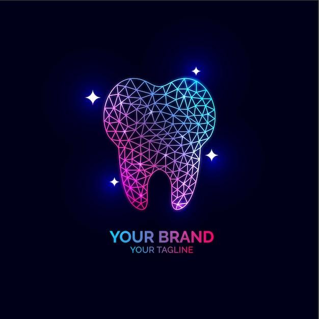 Diseño de logotipo dental para instituciones de atención y tratamiento de dentistas.