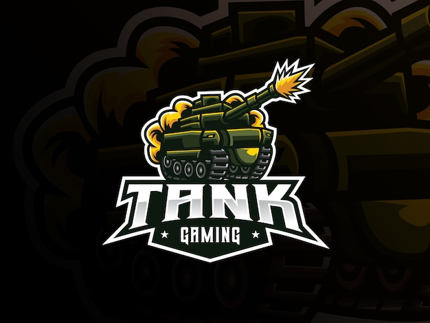 Diseño de logotipo de deporte de mascota de tanque