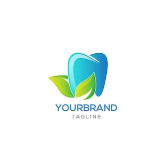 Diseño de logotipo de diente fresco