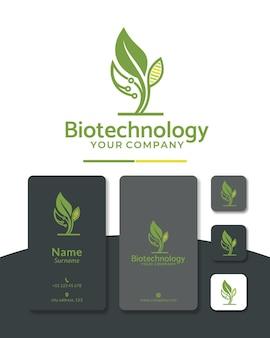 Diseño de logotipo digital de adn de hoja de letra b para biotecnología