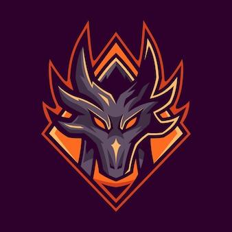 Diseño de logotipo de dragon esport gaming