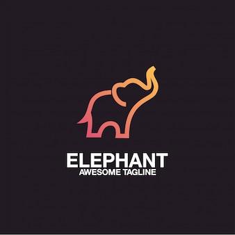 Diseño de logotipo de elefante impresionante