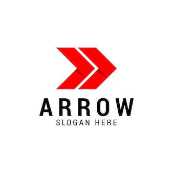 Diseño de logotipo de empresa de flechas derecha, concepto de negocio