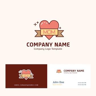 Diseño del logotipo de la empresa con un nombre basado en el vector del día de la madre