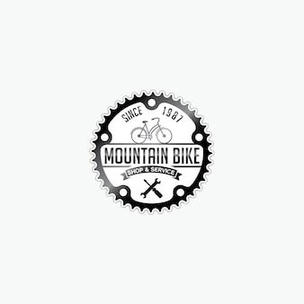 Diseño de logotipo de engranaje de bicicleta