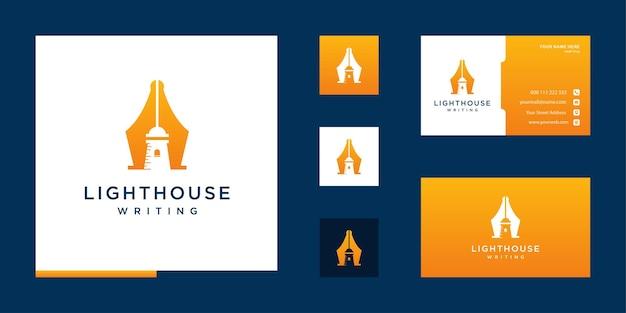 Diseño de logotipo de escritura de faro