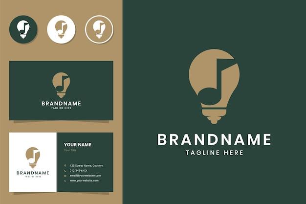 Diseño de logotipo de espacio negativo de idea de música