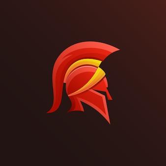 Diseño de logotipo espartano colorido