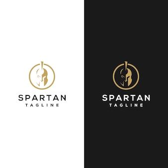 Diseño de logotipo espartano minimalista.