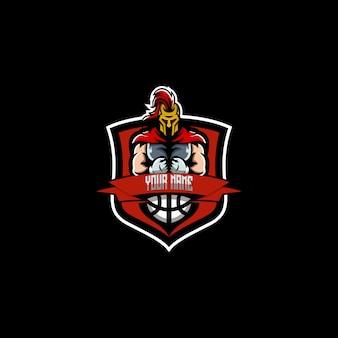 Diseño de logotipo espartano