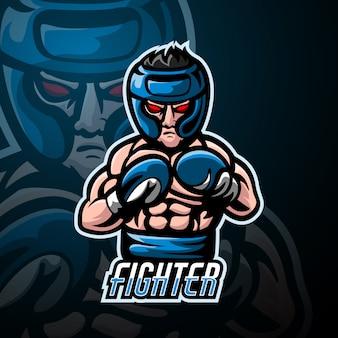 Diseño de logotipo esport de mascota de combate